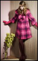 Dorothy Perkins Pink Check Coat - 2008 Fashion History.