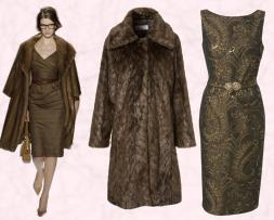 Fur coats and dresses for fashion autumn 2008.