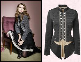 Military coat from Dorothy Perkins is exactly the same jacket and also Autumn/Winter 2008/9 at Dorothy Perkins.