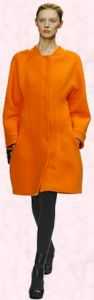 Narciso Rodriguez Cocoon Orange Coat - 2008 Fashion History.