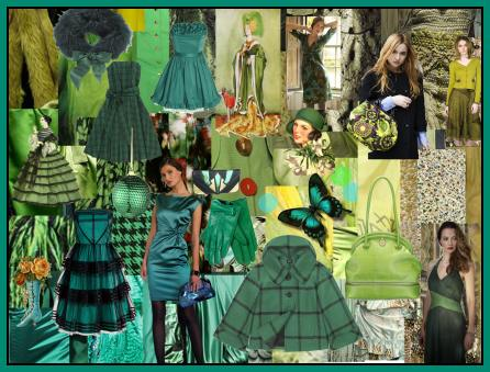 Sea Greens Fashion Mood Boards