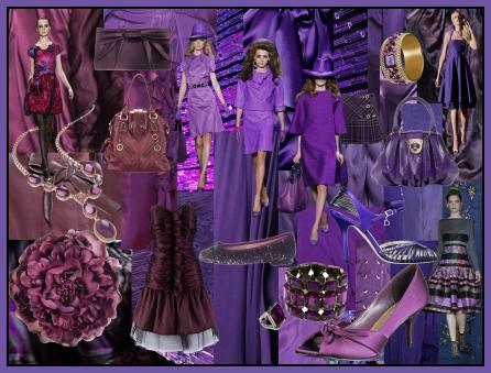 Fashion-era.com fashion trends Autumn/Winter 2008/9 - Purple Aubergines Lilacs Mood Board