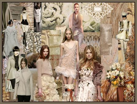 Fashioneracom fashion colour trends Winter White Cream Taupe Cocoa
