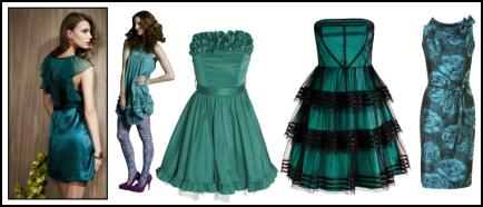 Fashion colours for autumn 2008/9 - sea green and aquamarine garments.