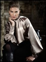 Wallis Autumn/ Winter 2008AW - W:Limited Edition mink satin neck-tie blouse �35/�45.