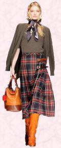 D&G tartan kilt skirt