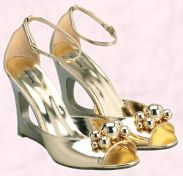 Shoe 9 - J Jeans by Jasper Conran gold wedge shoes �40/�62 Debenhams Spring/Summer 2008 Women's Accessories