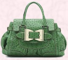 'It handbag' Green ostrich bag £5710.