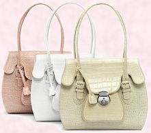'It bags' Polished Croc Osprey Ava Bags shown in White and Rose