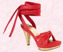 Shoe 6 - Shelly's Joanne red high sandal at £45 from Shelly's Spring/Summer 2008 range.