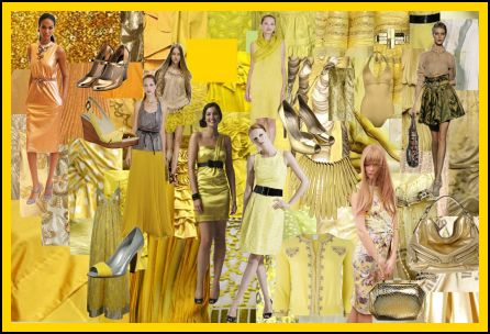 Spring Summer 2008 Yellow Gold Tones Fashion Colour MoodBoard Trends