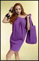 Marks and Spencer purple tunic dress and bag Spring Summer 2008