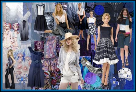 Spring Summer 2008 Dark Indigo Iris Blues Fashion Colour Moodboard