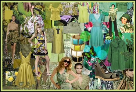 Spring Summer 2008 Greens Fashion Colour Moodboard Trends