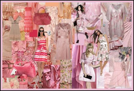 Spring Summer 2008 Pinks Fashion Colour Moodboard