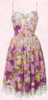 Fashion-era trends 2008 - Violet Valentine from Oasis is a delightful strappy sundress. It is adorned with sweet violets in sugared shades through soft floral border print working from small blossom to full blooms.