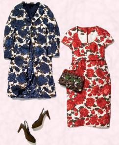 Fashion trend - Flower print coat and dress all from Boden. Coat - Silk linen coat �110, Dress - Silk linen dress �95, Bag - �55, Shoes - �95