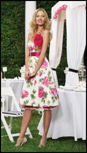Debenhams Womenswear Summer 2008  - Cabbage Rose Floral Print Dress at fashion-era fashion trends 2008.