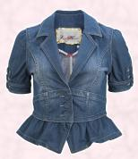 Short Sleeve Denim Nautical Blazer, �39.99,  River Island Clothing Co. Ltd.