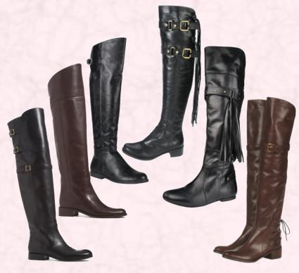 Flat Over The Knee Boots - 6 Styles of over the knee boots.