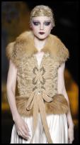 Dior Catwalk Look - Luxury Bustier Laced Gilet.