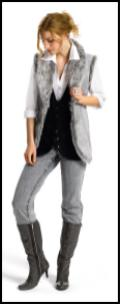 Marisota Autumn Winter 2009 - Gilet, from �25, jersey waistcoat, from �22, white shirt (pack of 2) from �25, jeans, from �27, boots, �80.