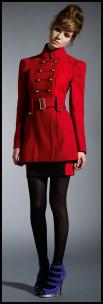 Dorothy Perkins AW09 - Modern Red Women's Military Coat �95/�150