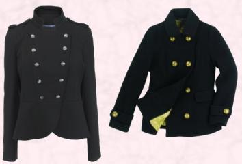 Women's Military Coat Fashon Autumn Winter 2009