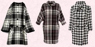 Cocoon Winter Coats 2009-10 - Black and White Checks, Dogtooth & Houndstooth Fabrics