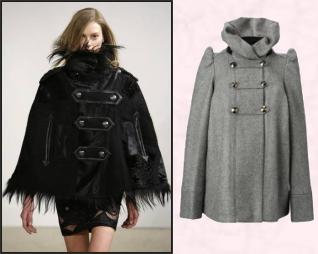 Emilio Pucci Cape & Grey Cape - Lark Wool High Neck Jacket �150 - French Connection Ladieswear AW2009.