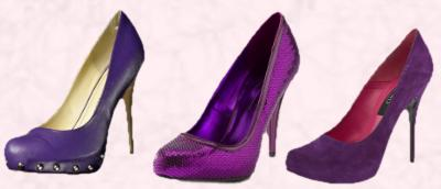 Dorothy Perkins - Purple Studded Court Shoe £35/€50. Marks & Spencer Sequin Pink/Purple Party Shoe T020576 £19.50.  Schuh Michy Stiletto Court in Purple Suede £54.99/€65.
