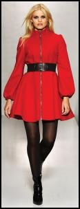 Matalan Be Beau Red Fit and Flare Coat - £50 AW09 Matalan Womenswear.