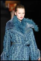 Blue catwalk coat from Alberta Ferretti. AW2009.