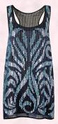 Racer back blue sequin tunic dress �75 from Miss Selfridge Autumn/Winter 2009