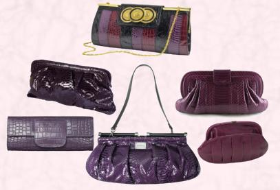 Bag Fashion Trends - Purple, Plum & Damson Clutch Bags.