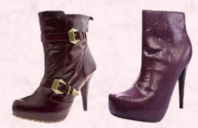 Snakeskin Square Toe Concealed Platform Boots £25  from www.boohoo.com A/W 09 Shoes and Boots. Schuh Pepa 2 Buckle Ankle Boot Burgundy Leather £79.99/€105.