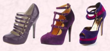 Very.co.uk - Fearne Cassandra Concealed Platform Shoe, Purple. Dorothy Perkins AW 09 Purple Multi Strap Mary Jane Shoe - �38 �52. A-SHU.CO.UK Purple & Puce Triple Strap Suede Effect Platforms �38.00.