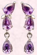 Jewellery Fashion Trend - Studio Edge Purple Drop Earrings �49.