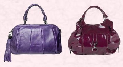 Violet Purple 'Vivian' Tassel Tote £235/€282 Coccinelle at House of Fraser. Marks & Spencer Plum Patent Bag T830104P £39.50.