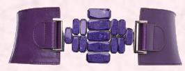 Wallis Christmas 2009 - Purple Stone Embossed Elastic Belt £18/€24.