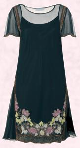 Floral Bead Noailles Dress �70/�119 Eire - Monsoon Christmas 2009 Due October - Fusion Collection.
