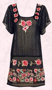Monsoon Black Rosa Tunic �95