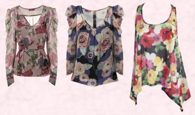 Monsoon Christmas 2009 - November - Leola Blouse �65 / �110 Eire - Main Range.  Monsoon Purple Celia Top �55/�93,  Republic Miso Floral Wing �16.99 Autumn Winter 2009 Republic Womenswear Miso.