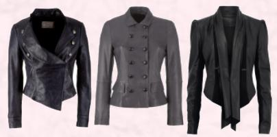Waterfall leather jacket �125 - Littlewoods AW09 Clothing & Footwear. Nicole Farhi (at John Lewis) Luxury Grey Leather Jacket - �800.  Limited Collection Waterfall Leather Jacket - �149 - Marks & Spencer Autumn Winter 2009.