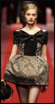 Damask Brocade Catwalk Lampshade Mini-Crin Dress by D&G.