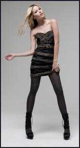 Dress - Matthew Williamson at Debenhams - Strapless black dress with studs.