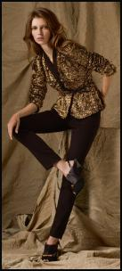 Antik Batik at House of Fraser - Gold sequin jacket.