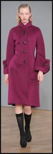 Nicole Farhi raspberry coat Autumn 2009 - Winter 2010 collections.