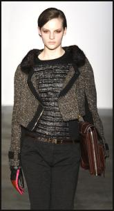 Schouler Tweed Jacket With Zip.