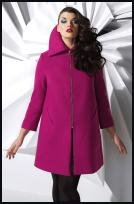Evans Hot Pink Sleek Zip Coat in Plus Sizes - £65 - Evans Autumn Winter 2009